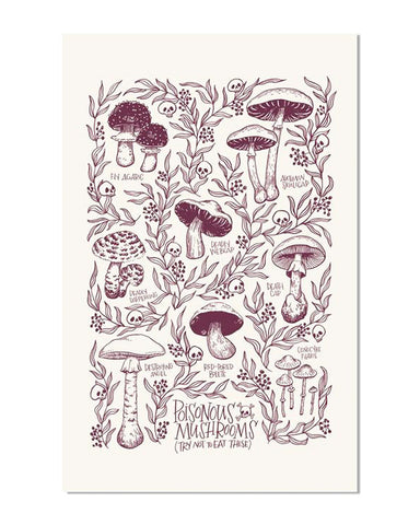 Poisonous Mushrooms Art Print