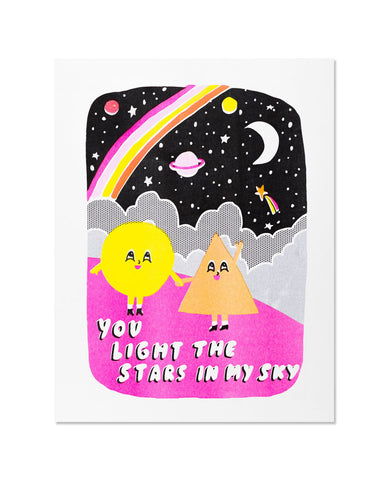 You Light The Stars In My Sky Art Print
