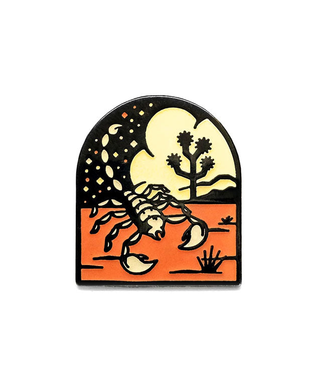 Desert Scorpion Pin (Glow-in-the-Dark)-Lost Lust Supply-Strange Ways