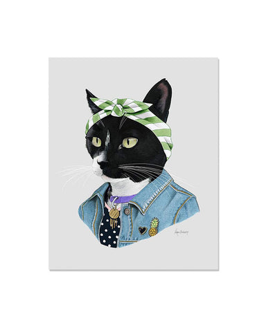 Cat Boss Art Print