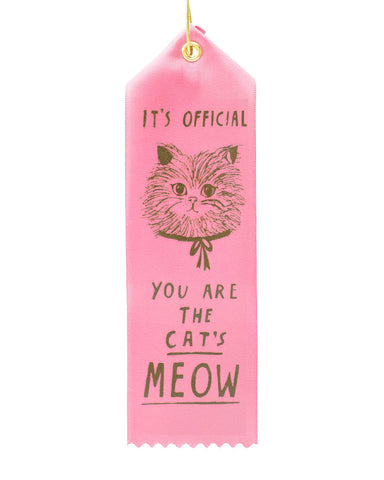 The Cat's Meow Award Ribbon