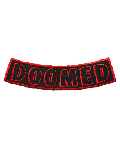 DOOMED Large Back Patch - Black