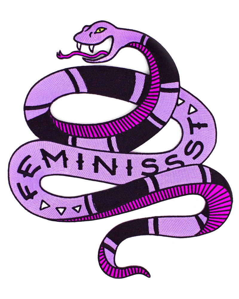 Feminist Snake Large Back Patch-Band Of Weirdos-Strange Ways