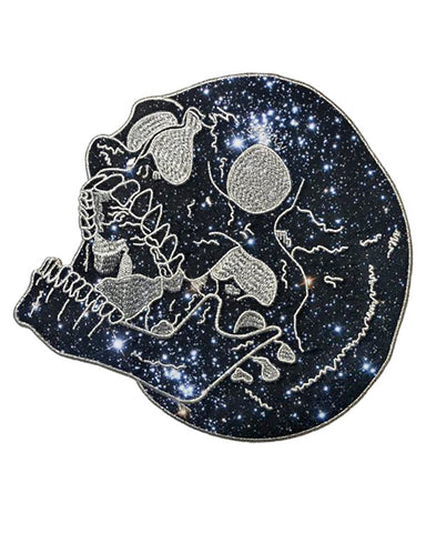 Galaxy Stars Skull Large Back Patch