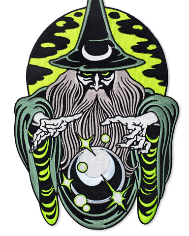 Dark Magic Wizard Large Back Patch (Glow-in-the-Dark)