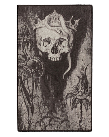Skull Crowned With Snakes And Flowers Large Back Patch