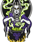 Witch Cauldron Large Back Patch (Glow-in-the-Dark)-Mean Folk-Strange Ways