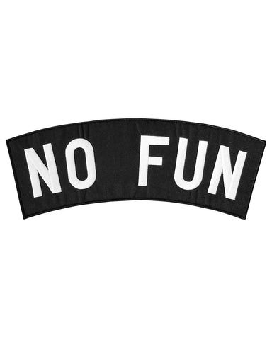 No Fun Large Back Patch
