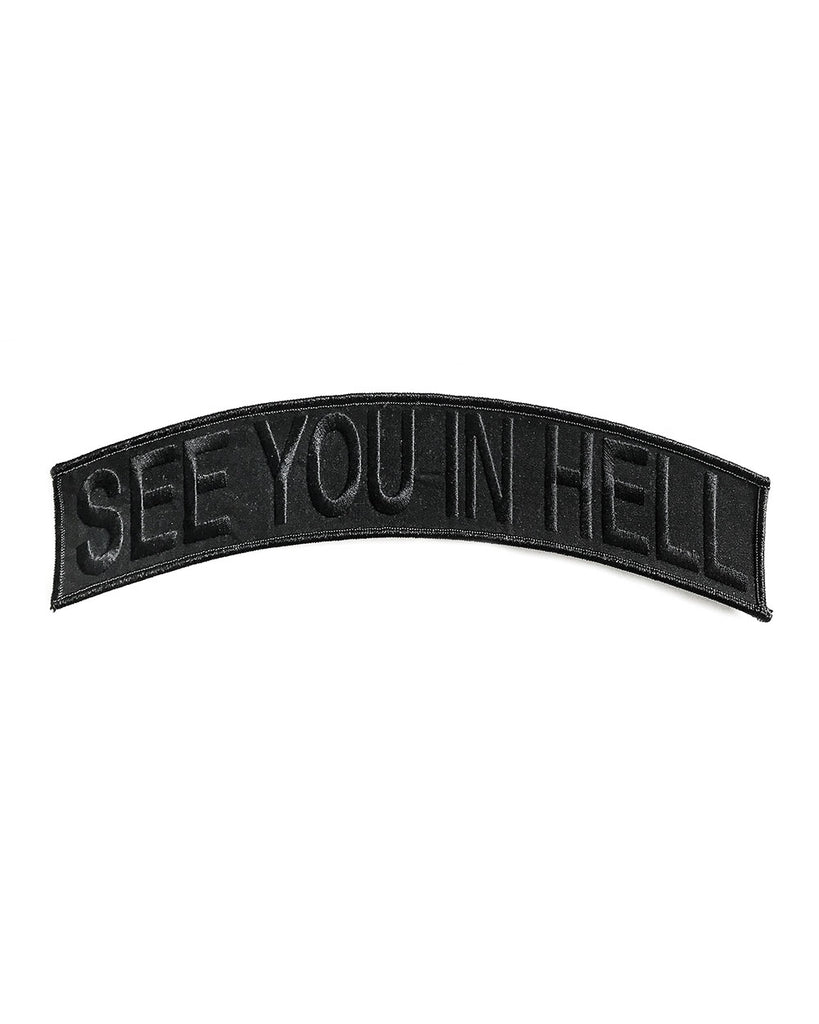See You In Hell Large Back Patch - Black/Black-Beast Or God-Strange Ways