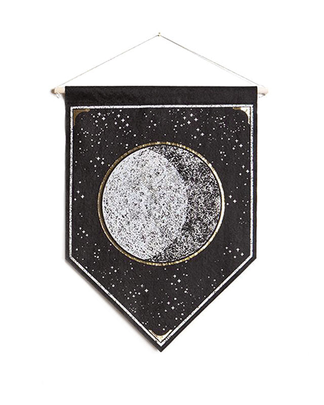 Black Moon Small Felt Banner-The Rise And Fall-Strange Ways