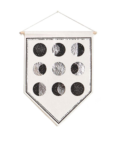 Moon Phases Small Felt Banner