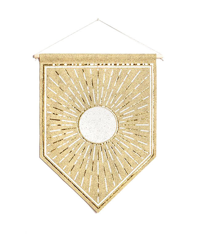 Radiant Sun Small Felt Banner-The Rise And Fall-Strange Ways