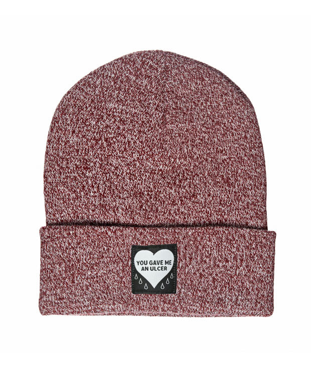 You Gave Me An Ulcer Beanie - Burgundy Marl-Mean Folk-Strange Ways