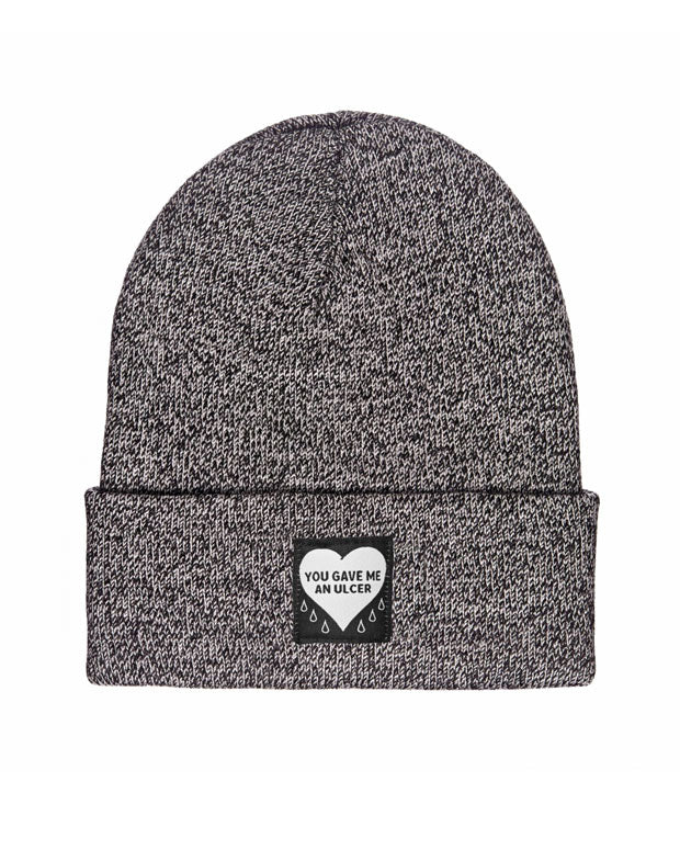 You Gave Me An Ulcer Beanie - Grey Marl-Mean Folk-Strange Ways