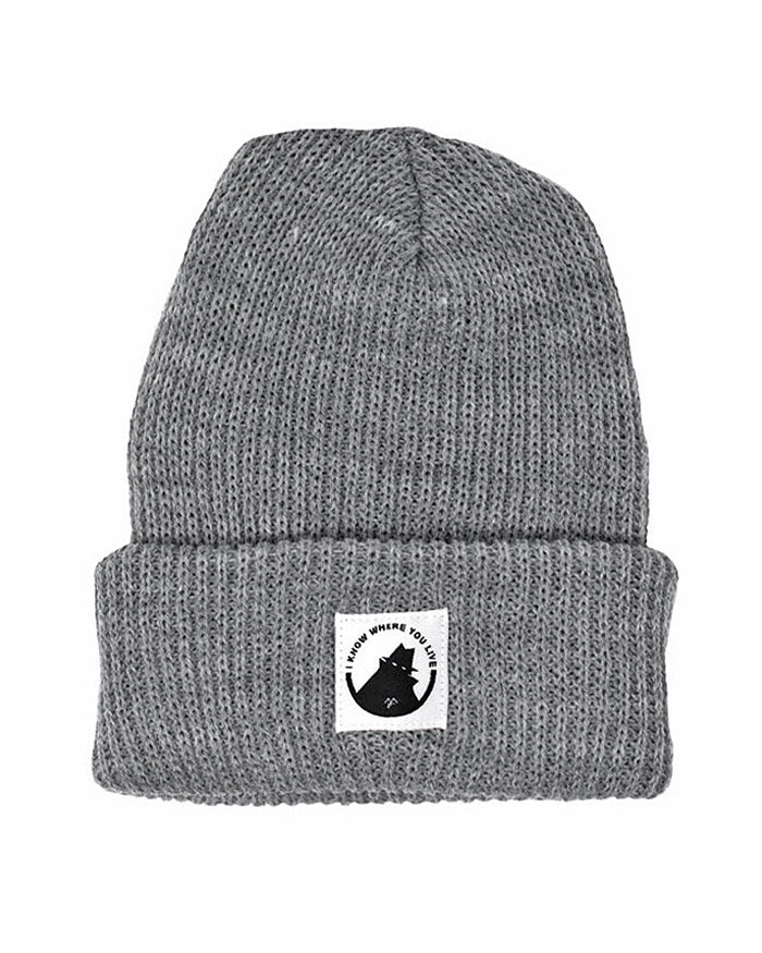 Neighborhood Watch Beanie - Grey-Mean Folk-Strange Ways