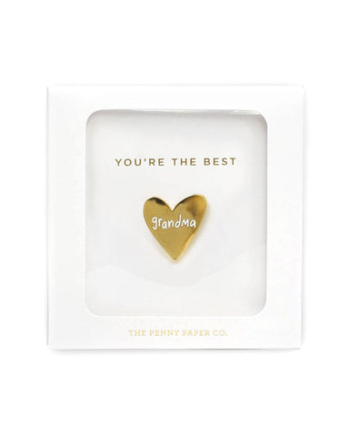 You're The Best Grandma Pin (Gift Box)