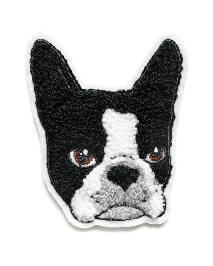 Boston Terrier Chenille Patch-Smarty Pants Paper Co.-Strange Ways
