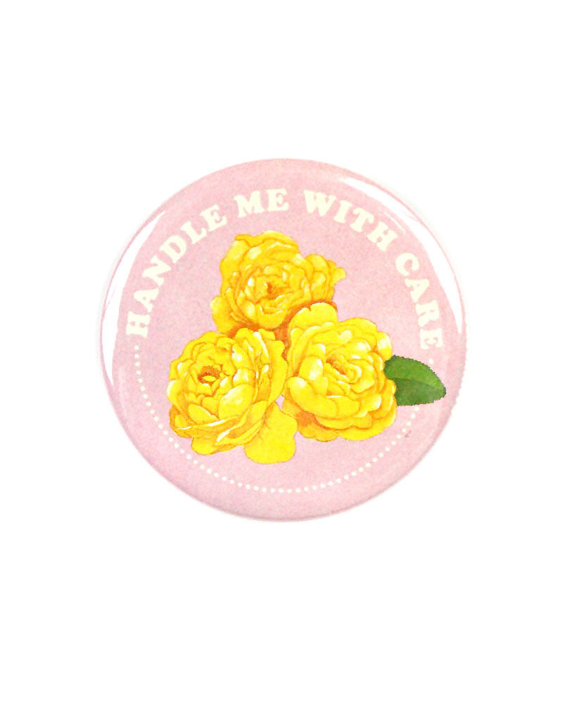 Handle Me With Care Big Pinback Button-Danny Brito-Strange Ways