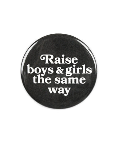 Boys & Girls Big Pinback Button