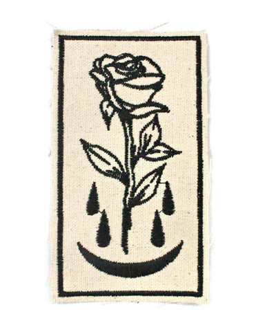 Bleeding Rose Large Canvas Patch