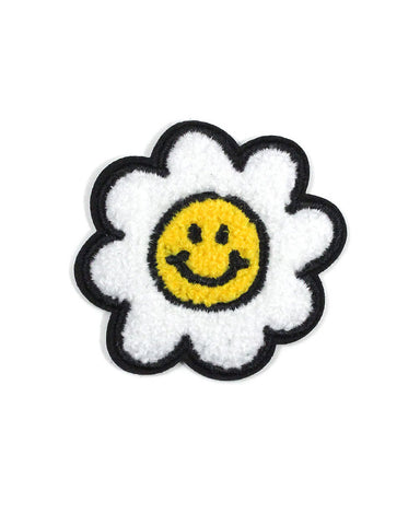 Happy Daisy Flower Chenille Patch