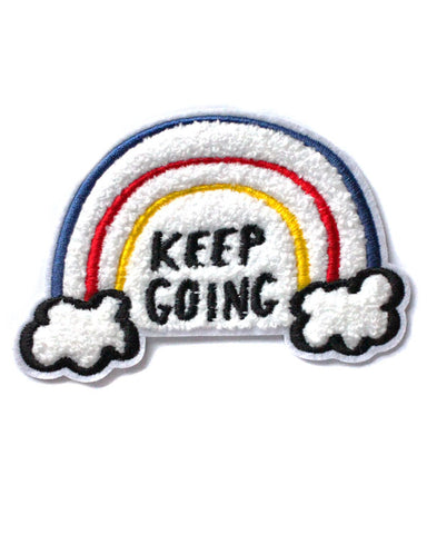 Keep Going Rainbow Chenille Patch