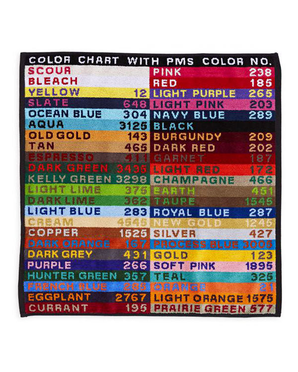 Color Chart Hand Towel-M. Carter-Strange Ways
