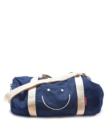Happy Face Denim Duffel Bag