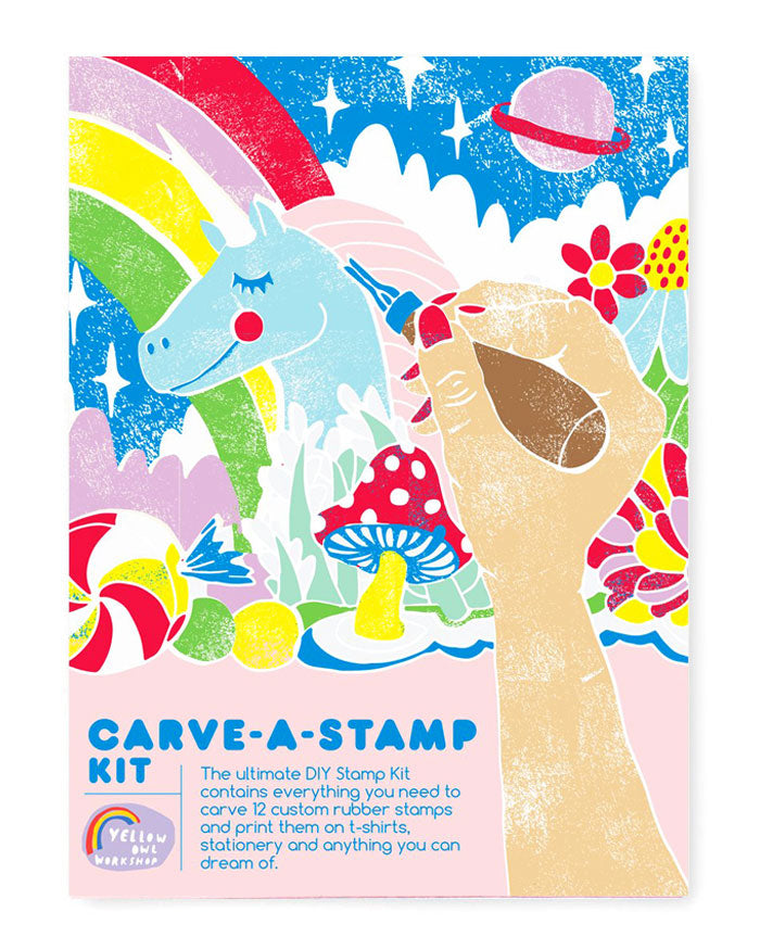 DIY Carve A Stamp Kit-Yellow Owl Workshop-Strange Ways