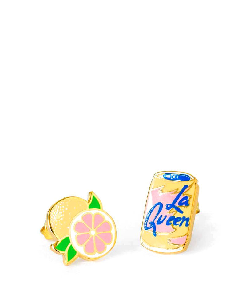 La Queen & Grapefruit Earrings-Yellow Owl Workshop-Strange Ways