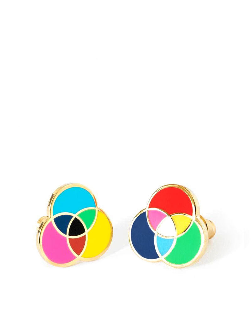 RGB & CMYK Color Earrings-Yellow Owl Workshop-Strange Ways