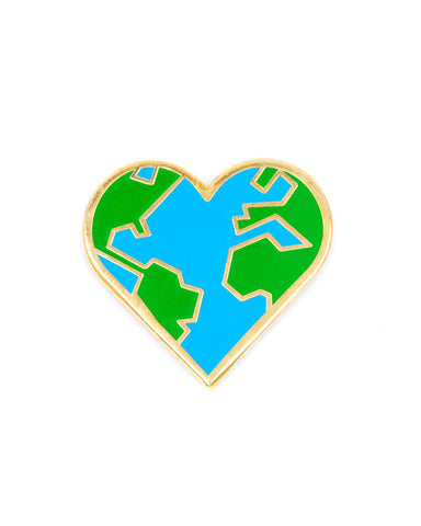 Earth Love Heart Pin