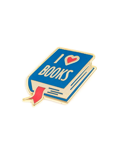 I Love Books Pin