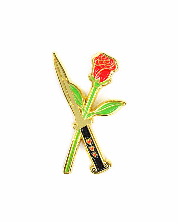Rose and Switchblade Pin-Creepy Gals-Strange Ways
