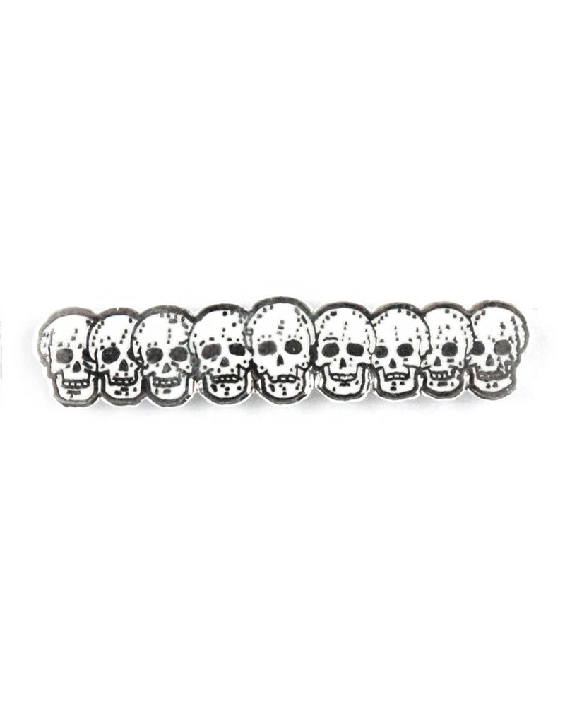 Row Of Skulls Pin-Strike Gently Co.-Strange Ways