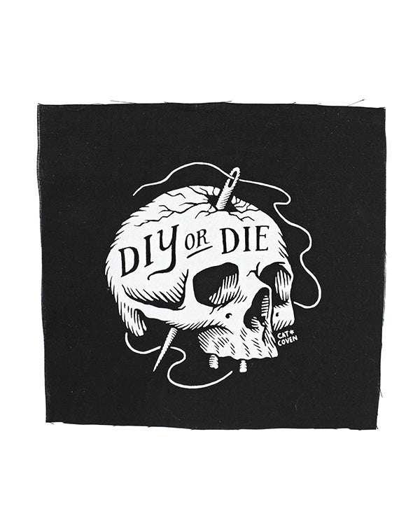DIY or Die Large Fabric Patch-Cat Coven-Strange Ways