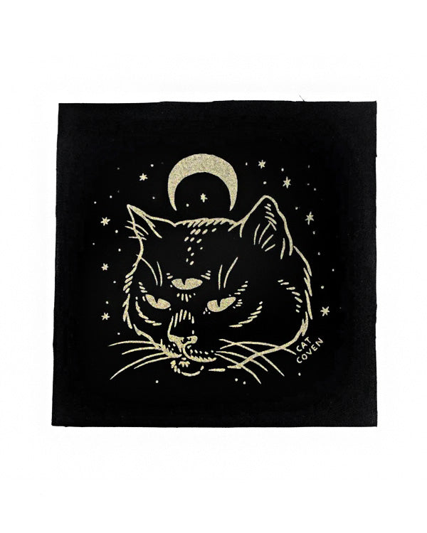 The Oracle Large Fabric Patch-Cat Coven-Strange Ways