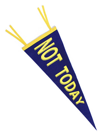 No Today Felt Pennant