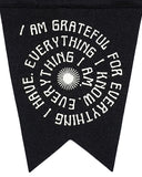 I Am Grateful Felt Fishtail Pennant-Oxford Pennant-Strange Ways