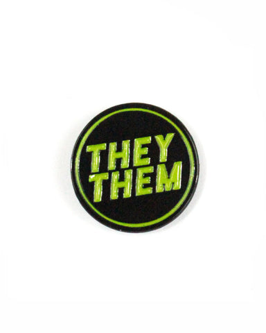 They / Them Gender Pronoun Pin