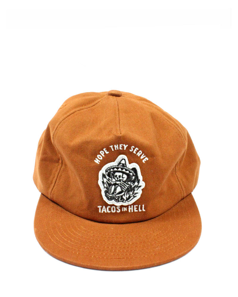 Hope They Serve Tacos In Hell Dad Hat-Pyknic-Strange Ways