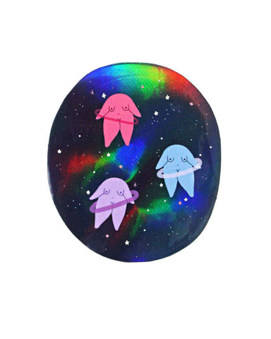 Space Bodies Holographic Sticker