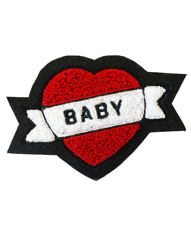 Baby Heart Tattoo Chenille Patch