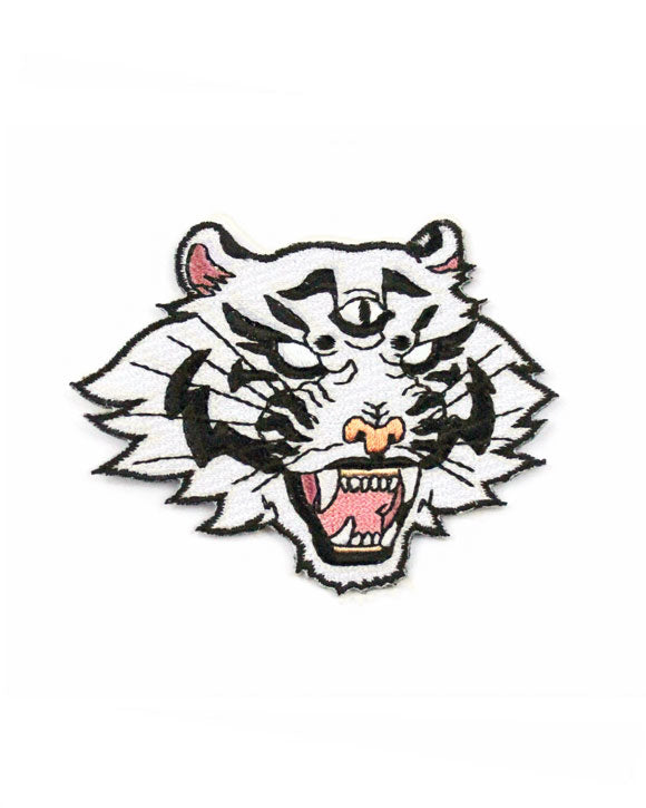 White Dream Tiger Patch-Ashlea Bechaz-Strange Ways