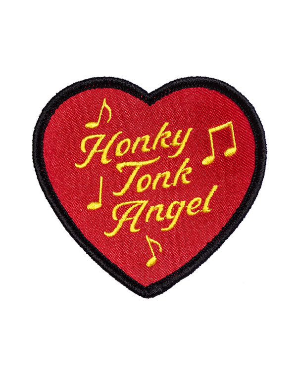 Honky Tonk Angel Heart Patch-Oxford Pennant-Strange Ways