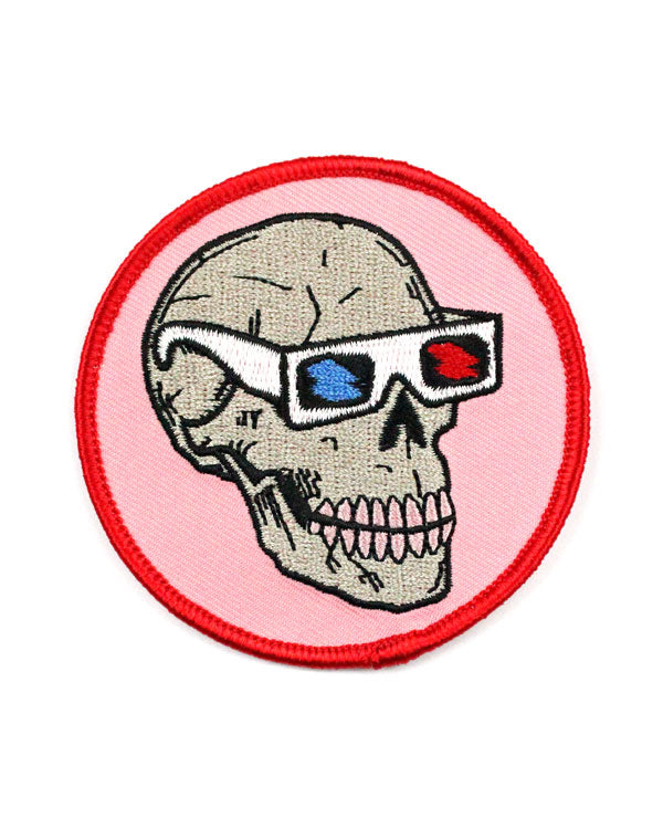 Skull With 3D Glasses Patch-Quiet Tide Goods-Strange Ways
