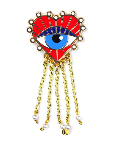 Eye Luv U Dangly Pin