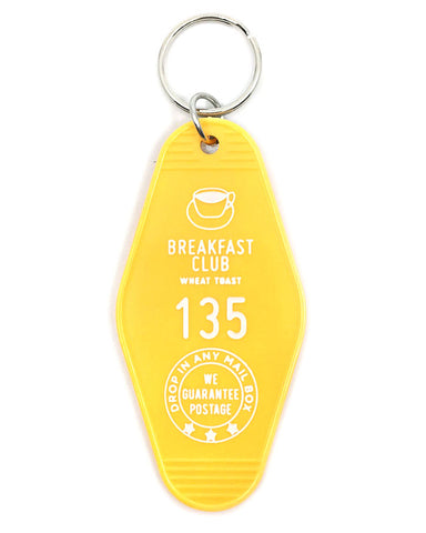 Breakfast Club Hotel Key Tag Keychain