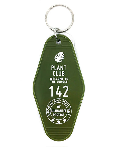 Plant Club Hotel Key Tag Keychain