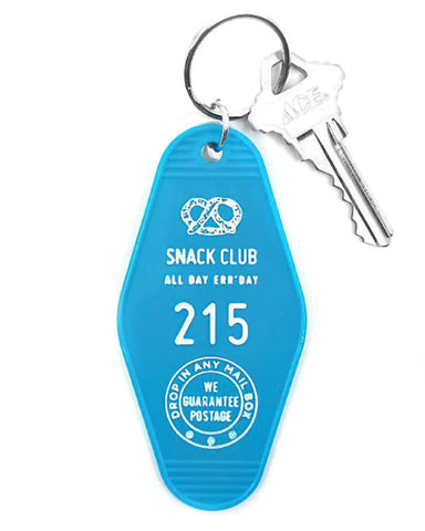 Snack Club Hotel Key Tag Keychain
